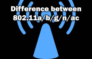 Difference Between 802.11 a b g n ac