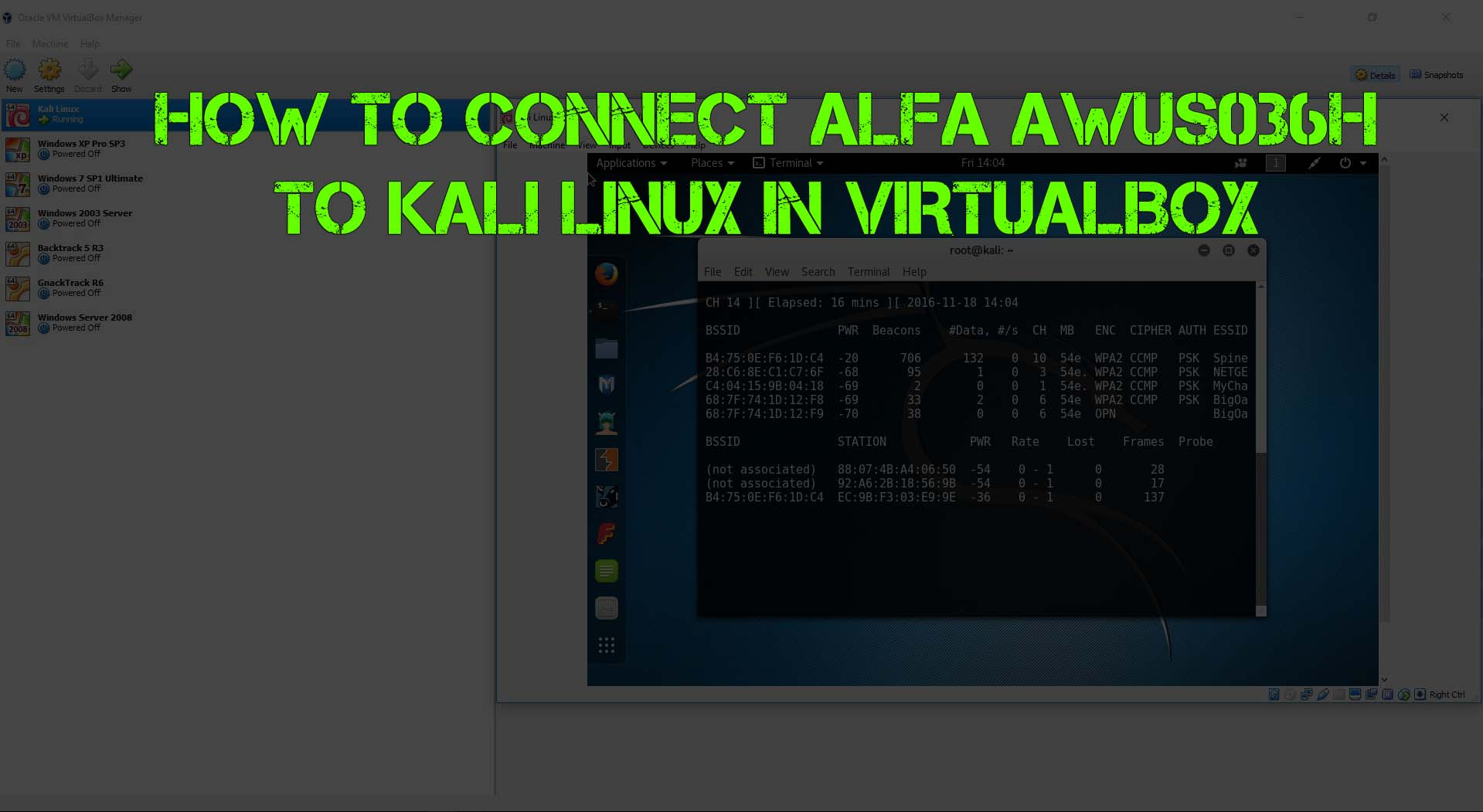 How to Connect ALFA AWUS036H to Kali Linux in VirtualBox - Enabling The USB Controller