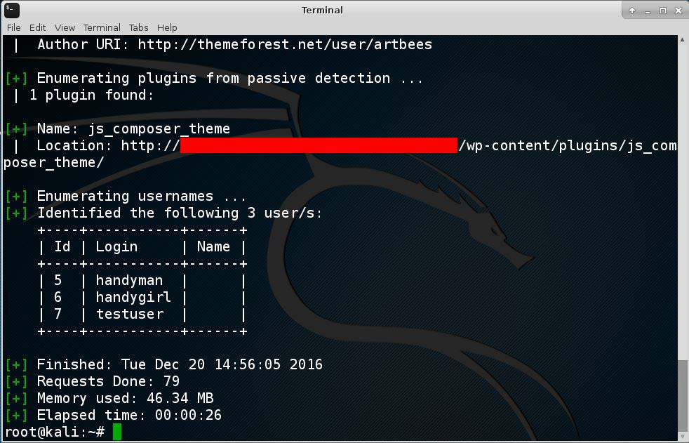 How to Hack a WordPress Site with WPScan in Kali Linux - Enumerate User