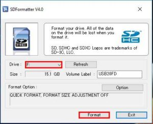 Raspberry Pi Format SD Card - Using SD Card Formatter