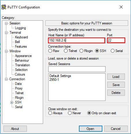 Securing VNC Connection on Kali Linux with SSH - IP Address in Putty