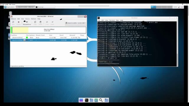 Resize Kali Linux Partition for Raspberry Pi-installing gparted