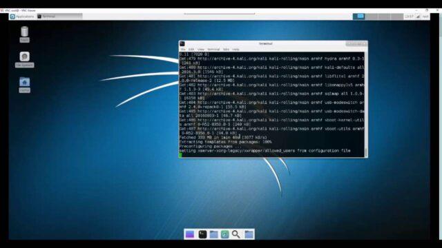 Installing Full Version of Kali Linux on Raspberry Pi 3 using terminal