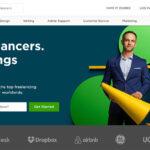 UpWork Homepage of website