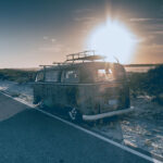 8 ways to make passive income living the van life – old vw stock photography
