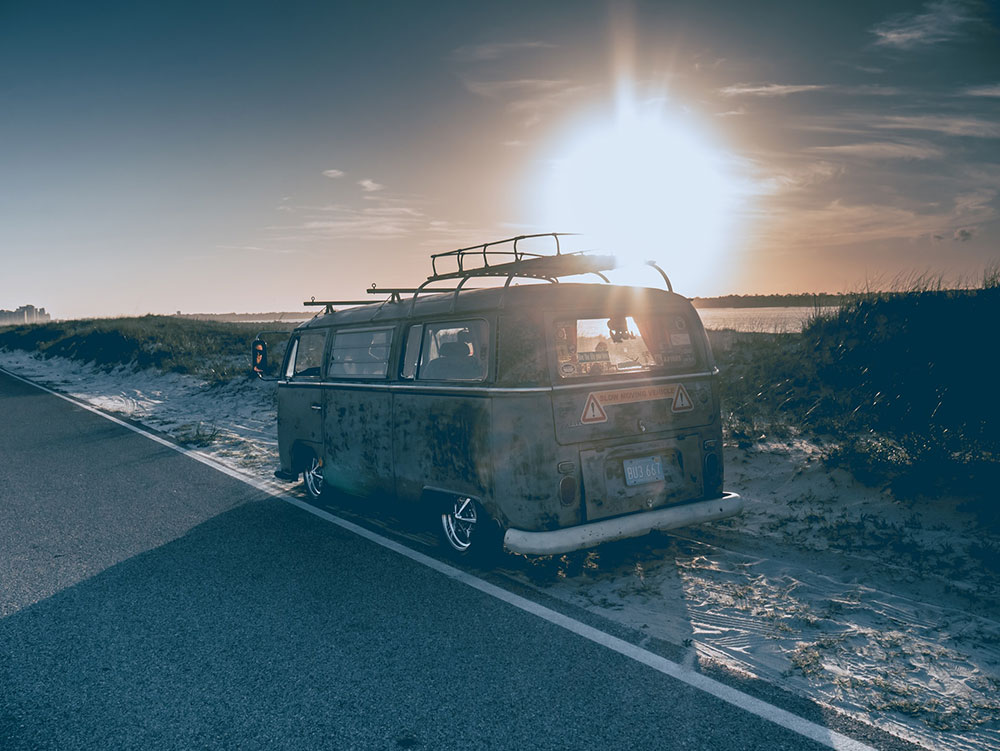 stock photography photo of van on side of the road looking for 8 ways to make passive income living the van life