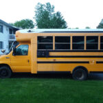 first school bus bought from church
